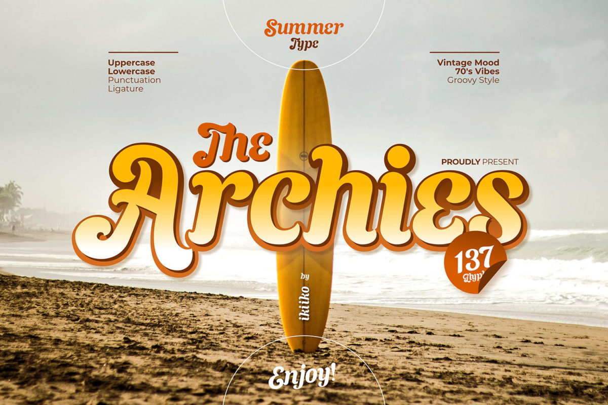 The Archies - Summer Type in Display Fonts