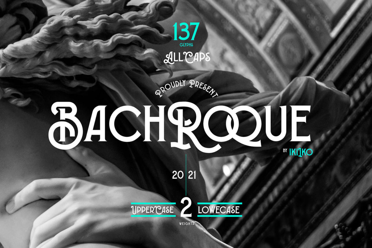 Bachroque Typeface in Serif Fonts