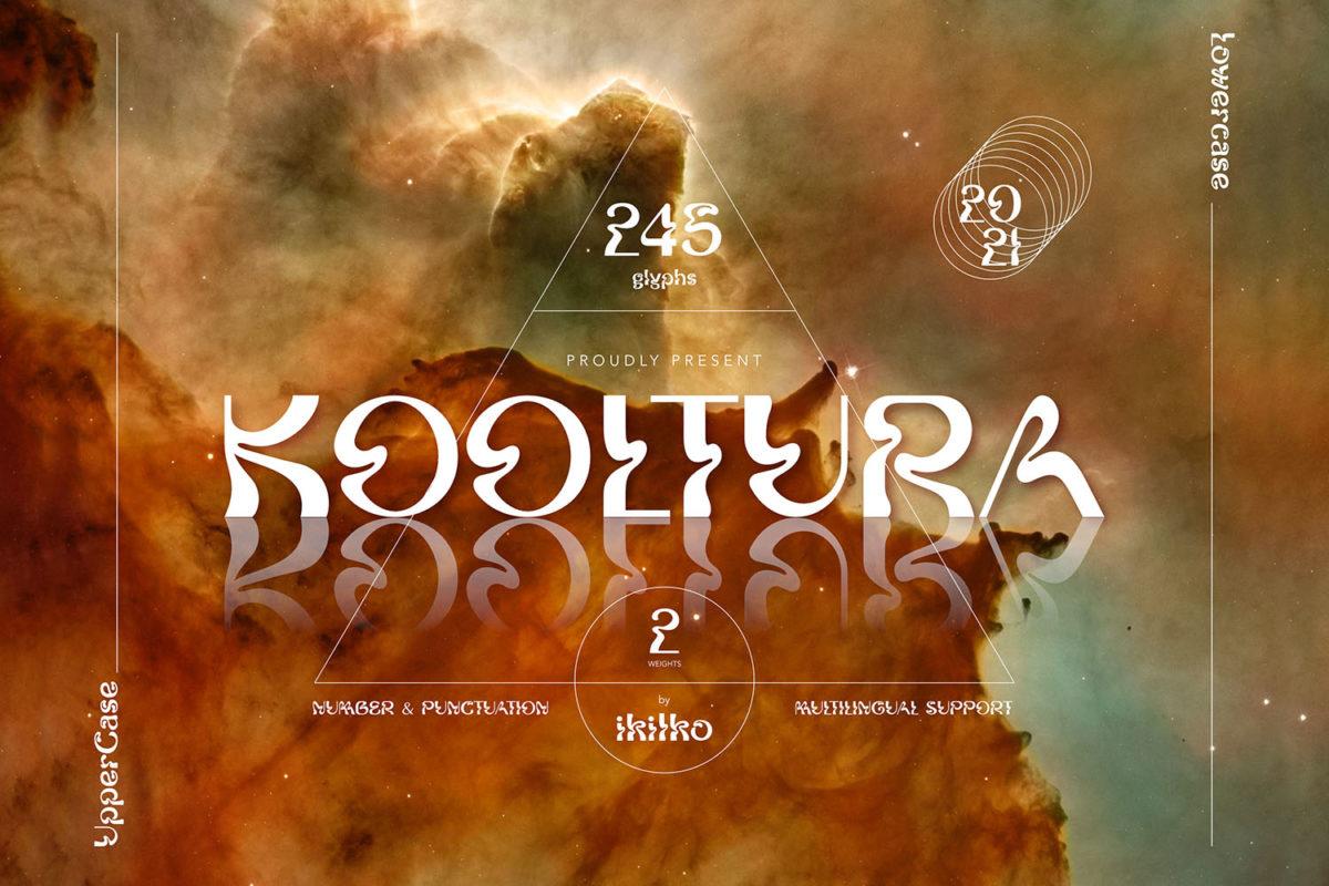 Kooltura - Psychadelic Type in Decorative Fonts