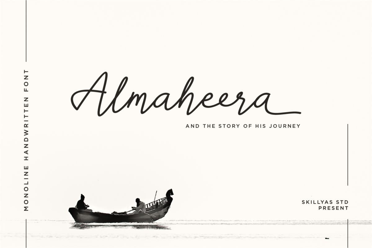 Almaheera - Beautiful Light Handwritten Font in Calligraphy Fonts