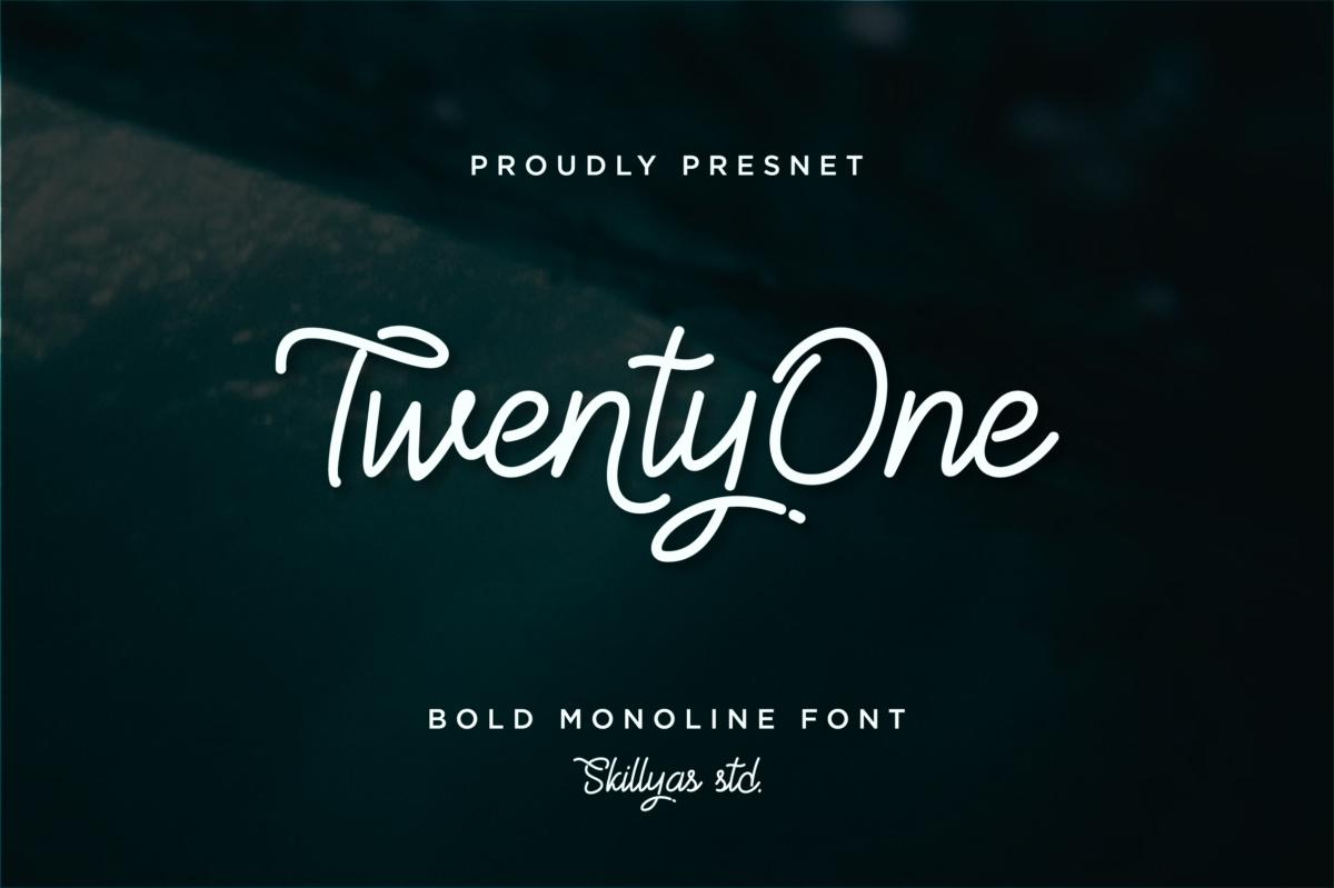 TwentyOne - Vintage Monoline Font in Display Fonts