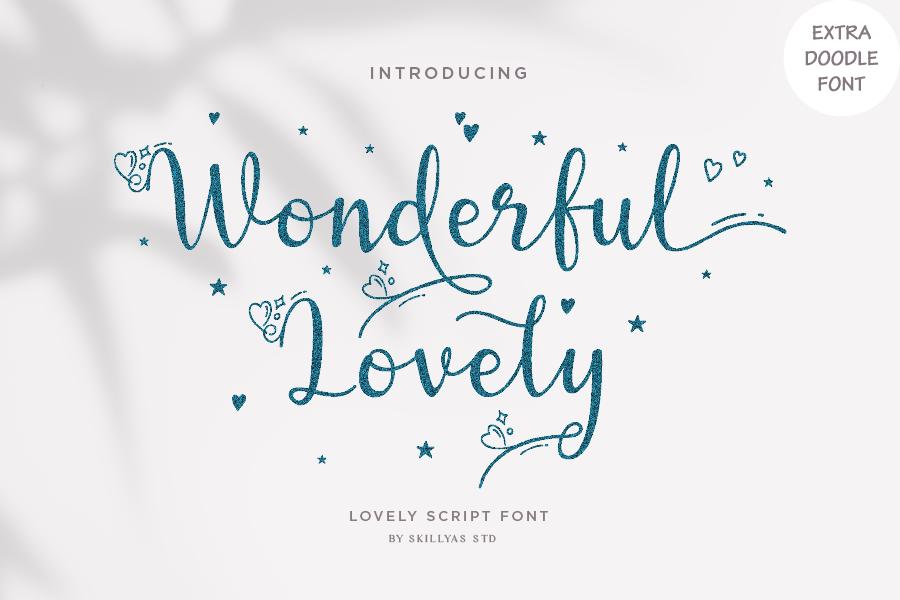 Wonderful Lovely - Romantic Script Font in Script Fonts