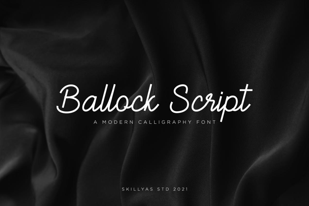Ballock Script - Modern Calligraphy Font in Display Fonts