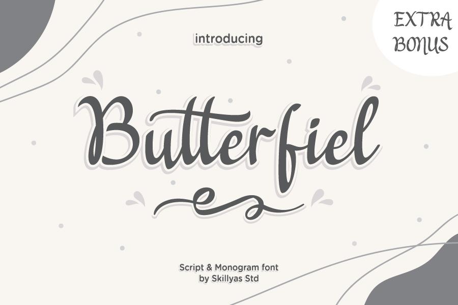 Butterfiel - Script & Decorative Font in Decorative Fonts