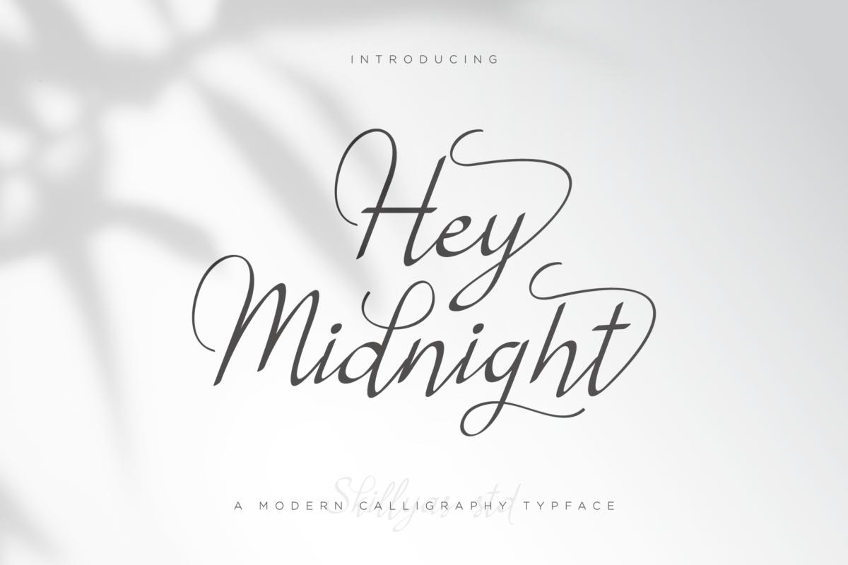 Hey Midnight - Beautiful Light Handwritten Font in Script Fonts