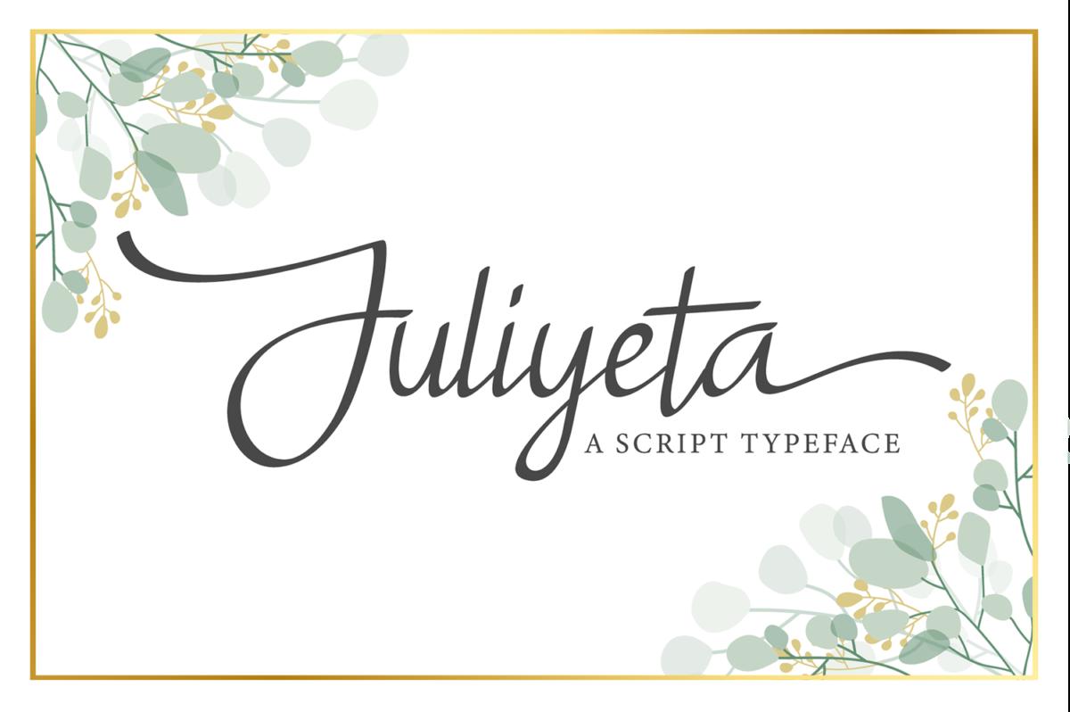 Juliyeta Script Font in Calligraphy Fonts