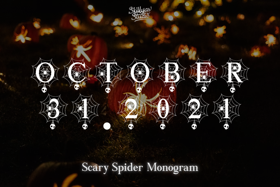 Scary Spider Monogram Font in Display Fonts