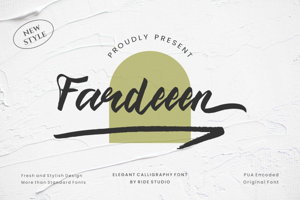 Fardeeen - Natural Handbrush Font in Display Fonts