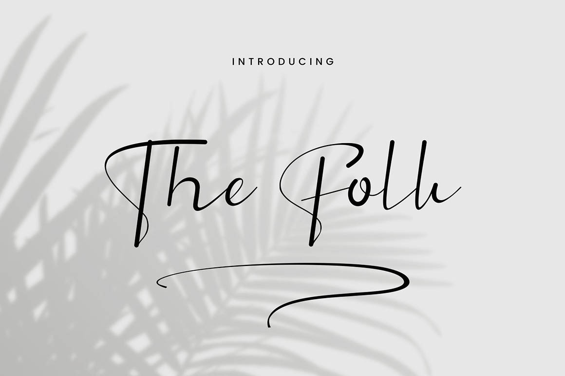 The Folk - Signature Font in Calligraphy Fonts